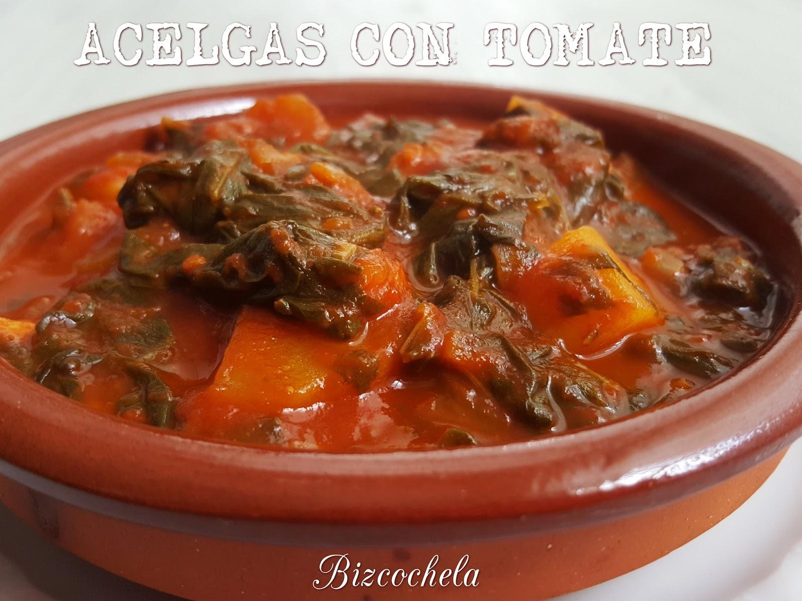 Acelgas con tomate for Cocinar acelgas