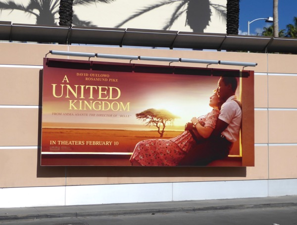 A United Kingdom film billboard