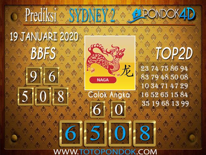 Prediksi Togel SYDNEY 2 PONDOK4D 19 JANUARI 2020