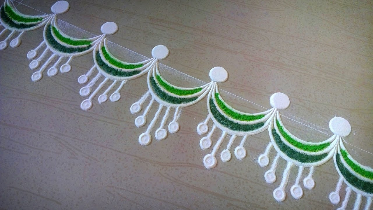 Update diwali images simple diwali border designs for Door rangoli design images