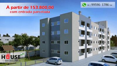 Apartamento em Pinhais no Vargem Grande - Atrás do Condor da Av. Iraí á partir de R$ 153.800,00 com entrada parcelada e pelo programa Minha Casa Minha Vida.