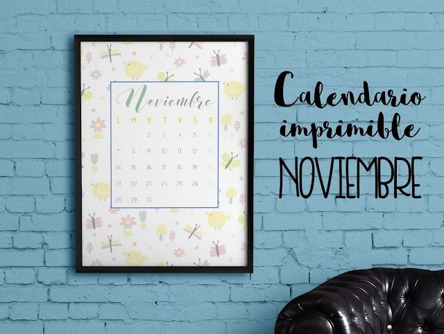 Calendario imprimible noviembre