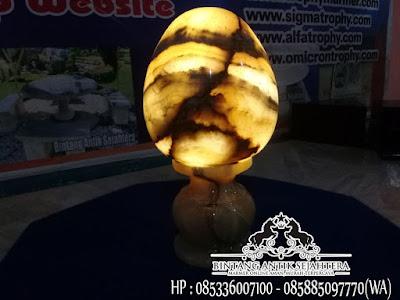 Kap Lmpu Onyx, Kap Lampu Hias Berdiri, Kap Lampu Onyx Model Telur