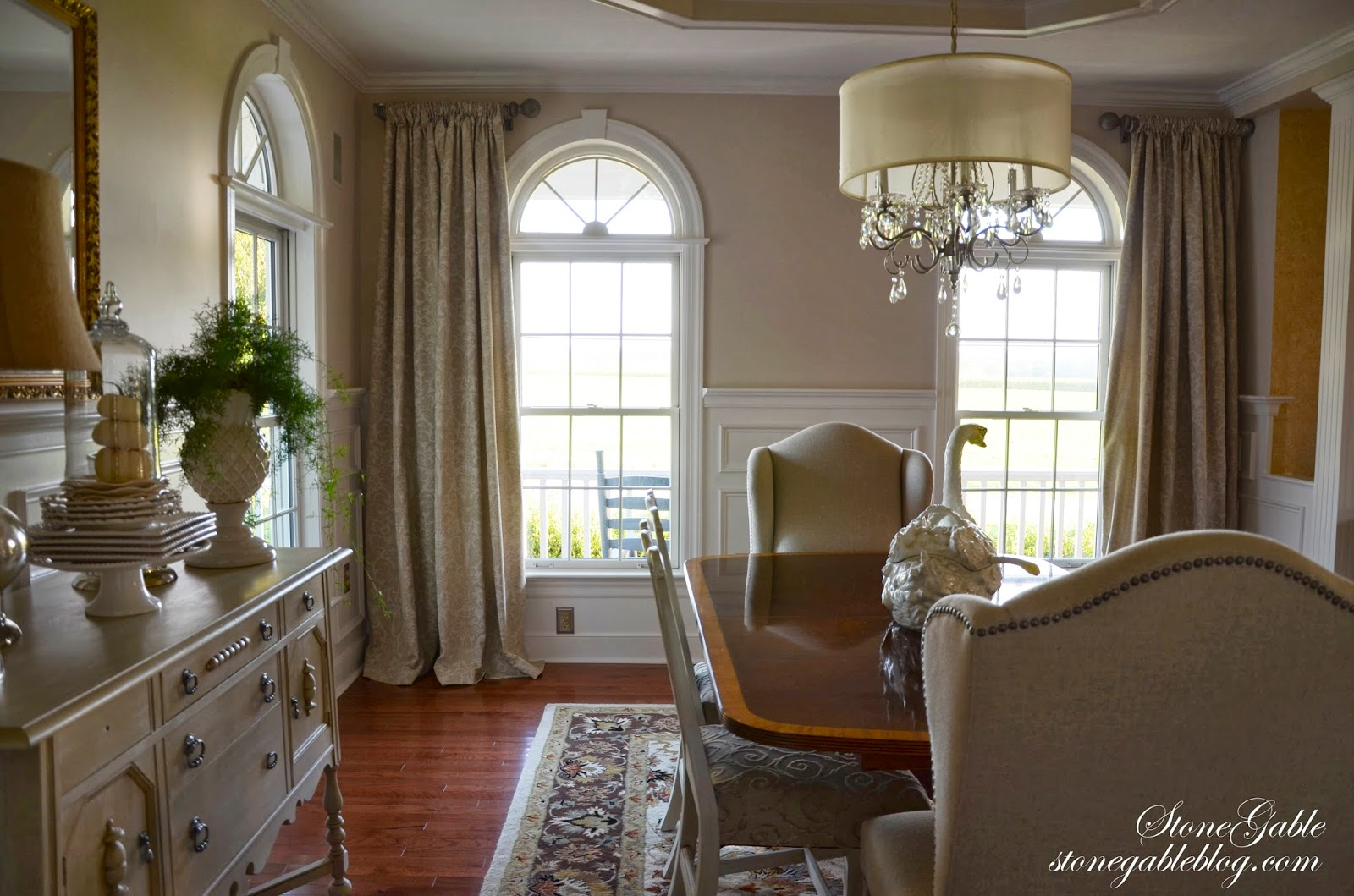 DINING ROOM CURTAINS - StoneGable on Dining Room Curtains  id=80670