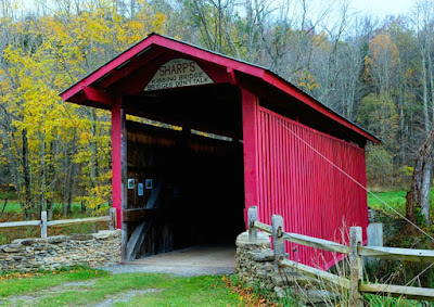 Sharp's Kissing Covered Bridge in West Virginia