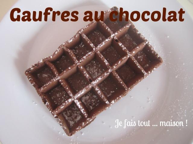 Recette des gaufres au chocolat facile et rapide