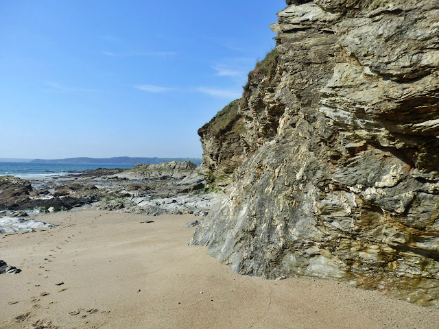 Cliffs at Spit Beach, Cornwall