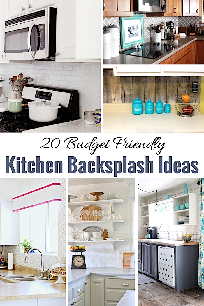 20 budget friendly kitchen backsplash ideas shabbyfufu for Budget kitchen backsplash ideas