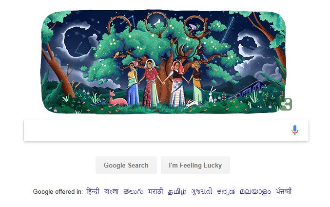 Chipko Movement Doodle