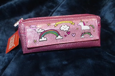 paperchase pink sparkly unicorn pencil case
