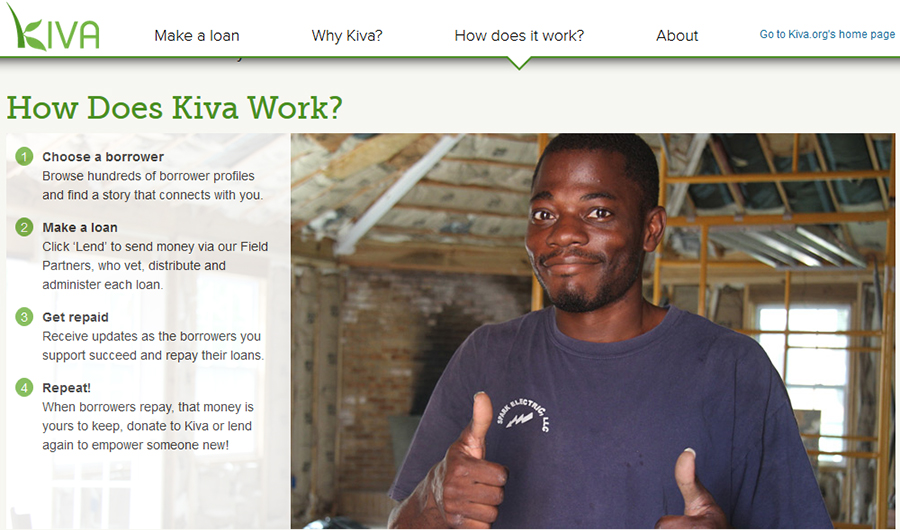 Kiva, كيفا للقروض, كيفا للاقتراض, كيفا للتمويل, كيفا للاقراض