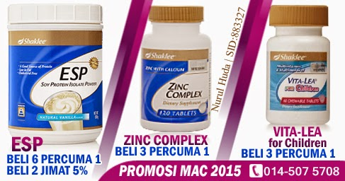Promosi ESP, Zinc Complex dan Vita-Lea for Children