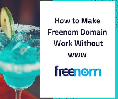 Make Freenom Domain Work Without www