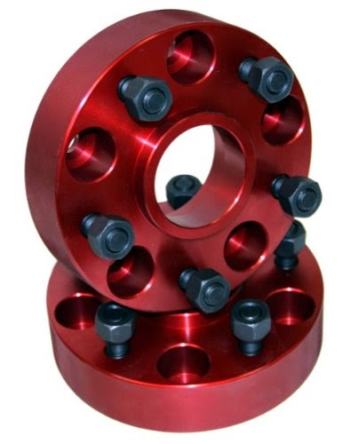 Alloy USA 11300 Red 1.5inch 5-on-5 Wheel Spacer - Pair