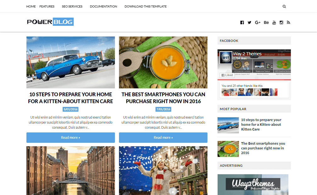 ower Blog is a Specially Designed for Blogging Purpose Free Download Power Blog Blogger Template