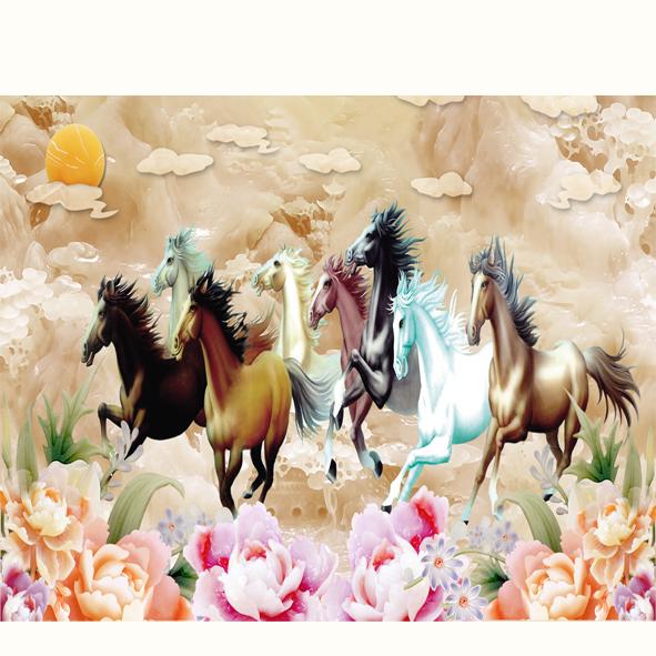 Trang ngựa 3d cẩm thạch