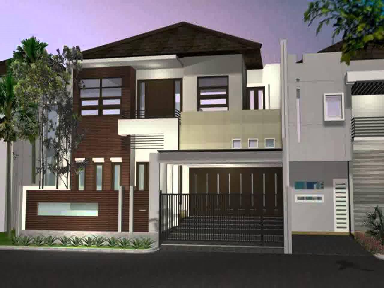 Desain Tampak Depan Rumah Minimalis Modern 2 Lantai Desain Rumah