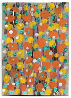 aceo crackle surface dots in bright colors New End Studio
