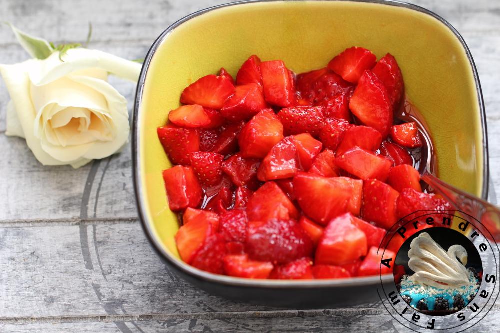 Salade de fraises au citron