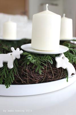 DIY Weihnachtsdekoration Adventskranz Fimo auf dem Südtiroler Food- und Lifestyleblog kebo homing