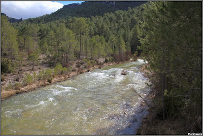 El Río Escabas visto desde el puente anterior