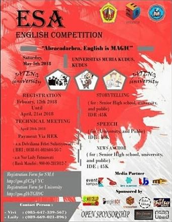 Lomba ESA English Competition 2018 UMK
