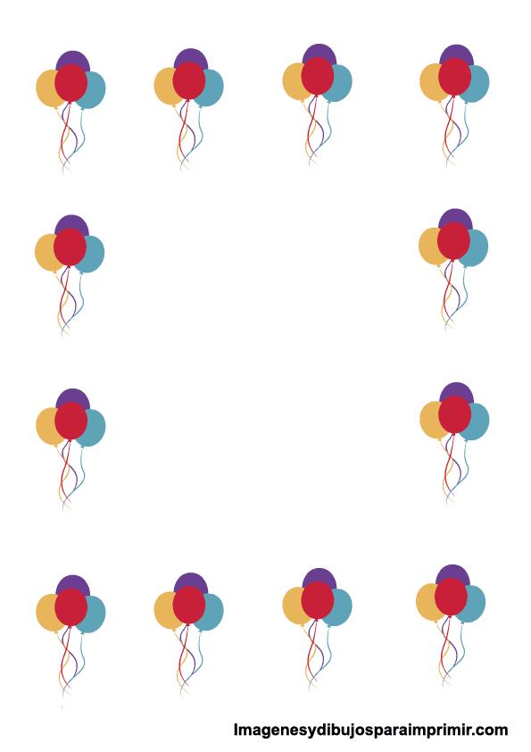 Borde de hoja de cumpleaños