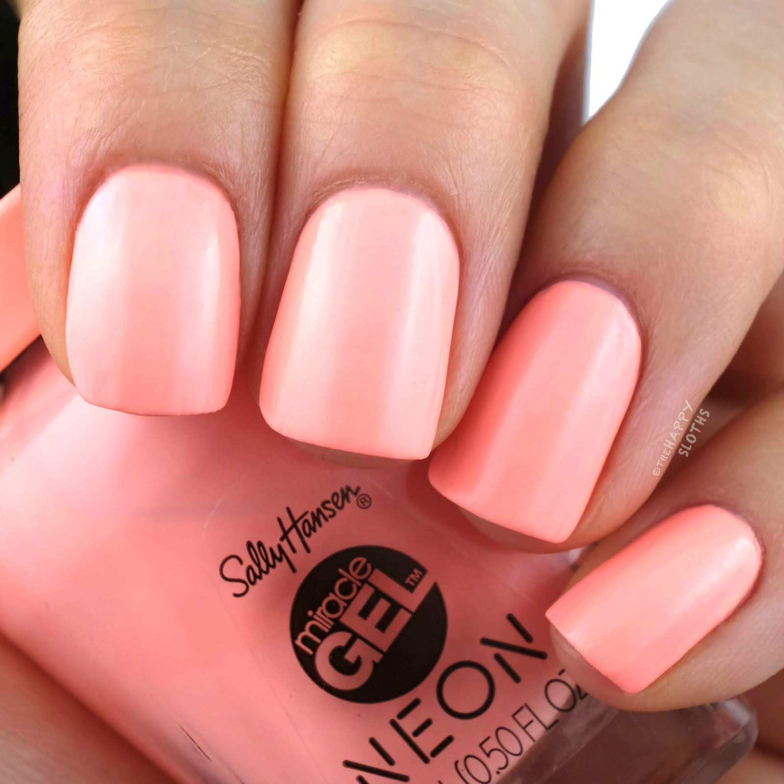 Sally Hansen | Miracle Gel Summer 2019 Neon Collection | Peach Please: Review and Swatches