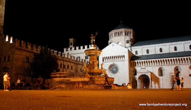 The Cathedral in Trento at night