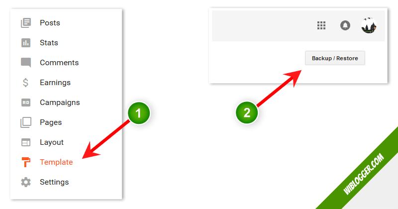 Cara install template blogspot