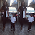 Wizkid's babymama and son step out in coordinating outfits for wedding (Photos)