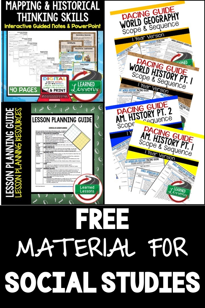 FREE Science and Social Studies Material - Learned Lessons Teaching
