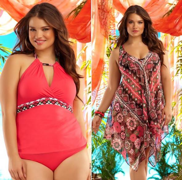 Resultado de imagem para moda praia plus size