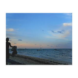 Sky, sea and beach canvas art