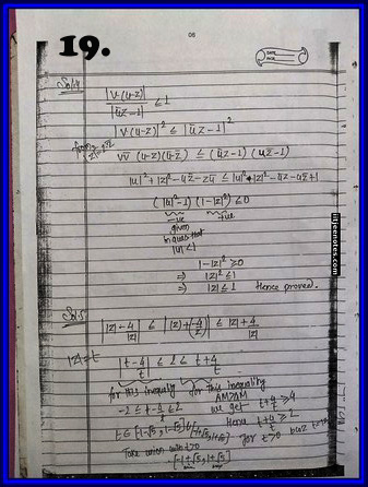 iitjee notes on complex number 19
