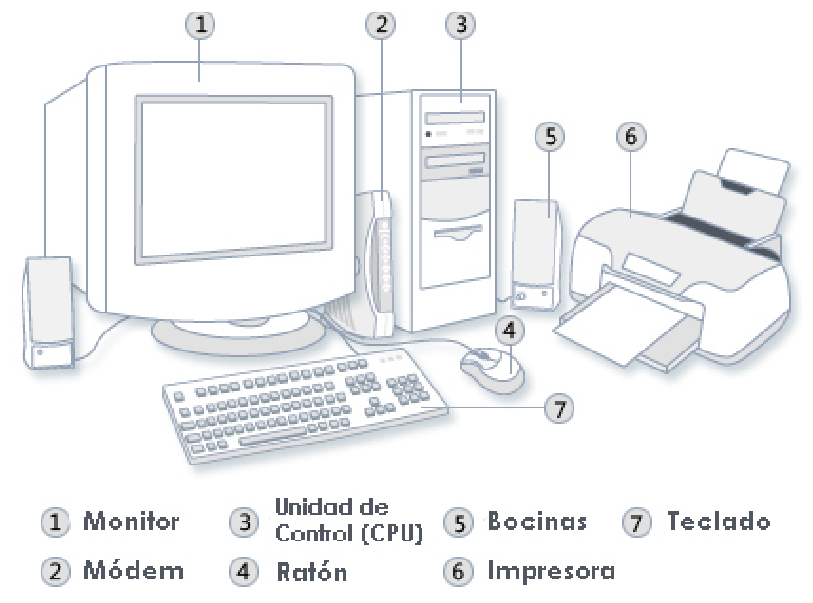 an introduction to the major components of a desktop microcomputer If we think of the computer as an information manipulation device the basic components of a microcomputer are : input devices allow us to enter information into the computer.