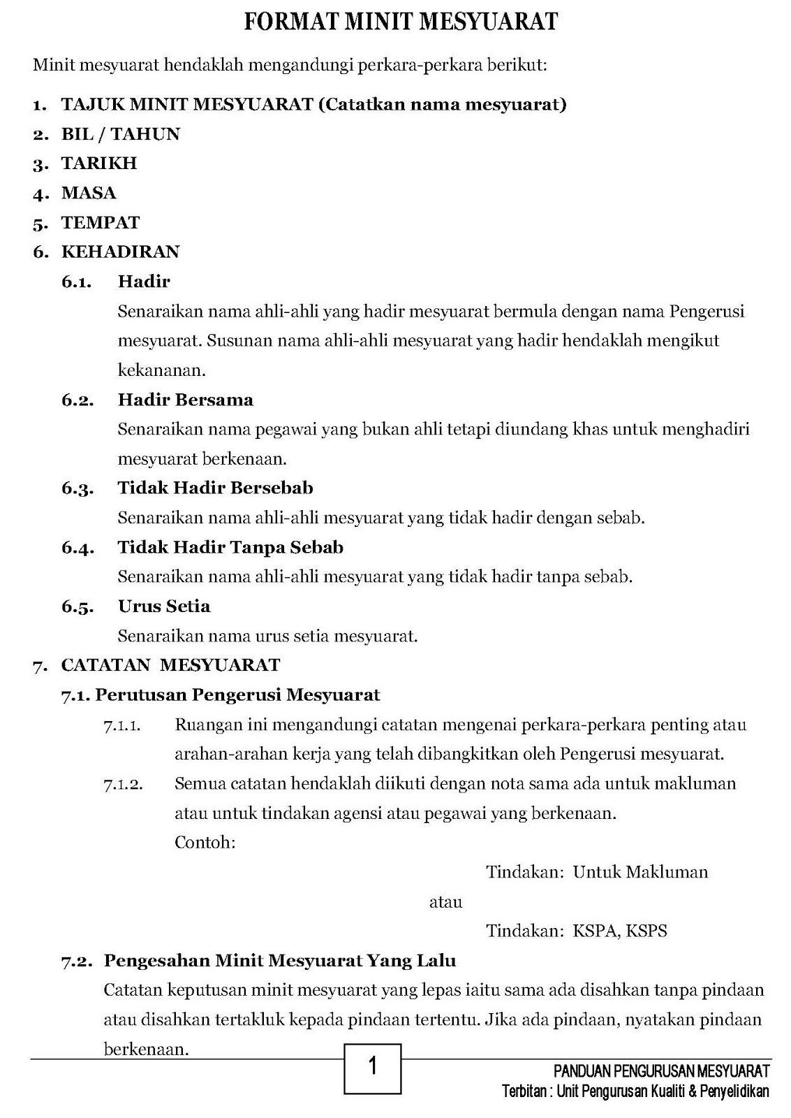 Download Format Minit Mesyuarat Terkini Mykssr Com