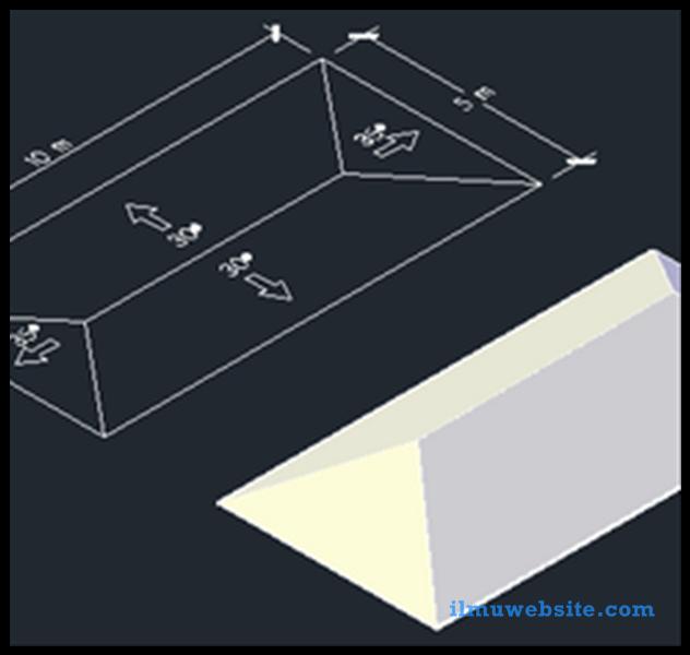 Tutorial Autocad Cara Cepat Membuat Atap Rumah Belajar Desain Grafis
