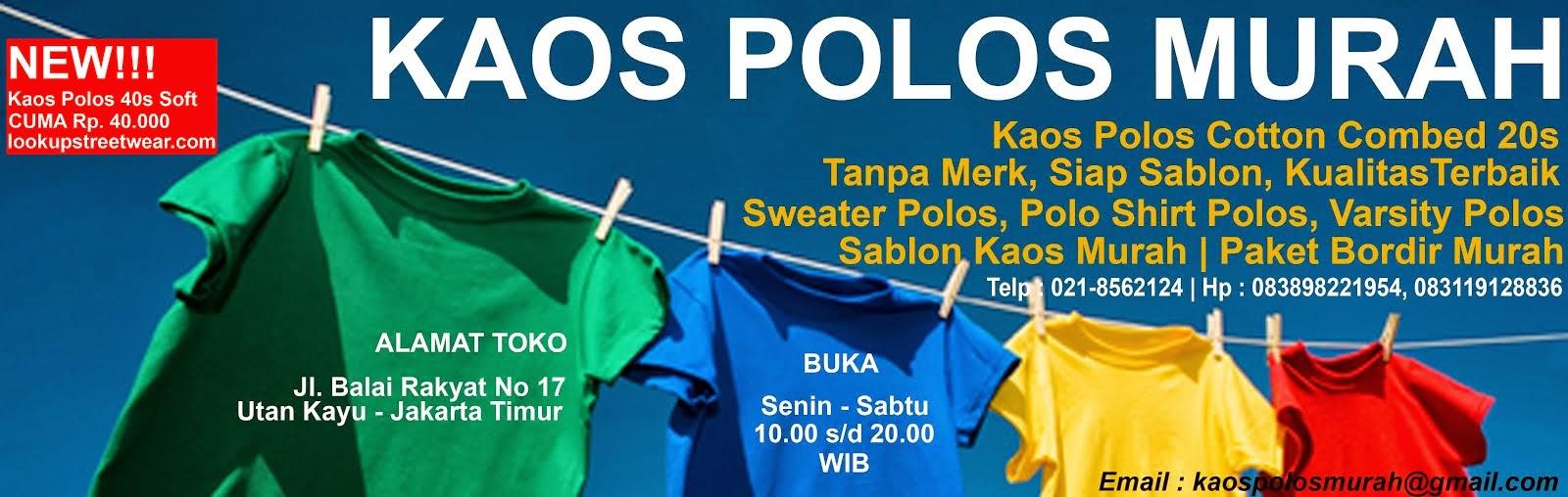 Kpm Kaos Polos Murah Supplier Combed Sablon Size L Cotton Lengan Panjang 20s