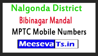 Bibinagar Mandal MPTC Mobile Numbers List Nalgonda District in Telangana State