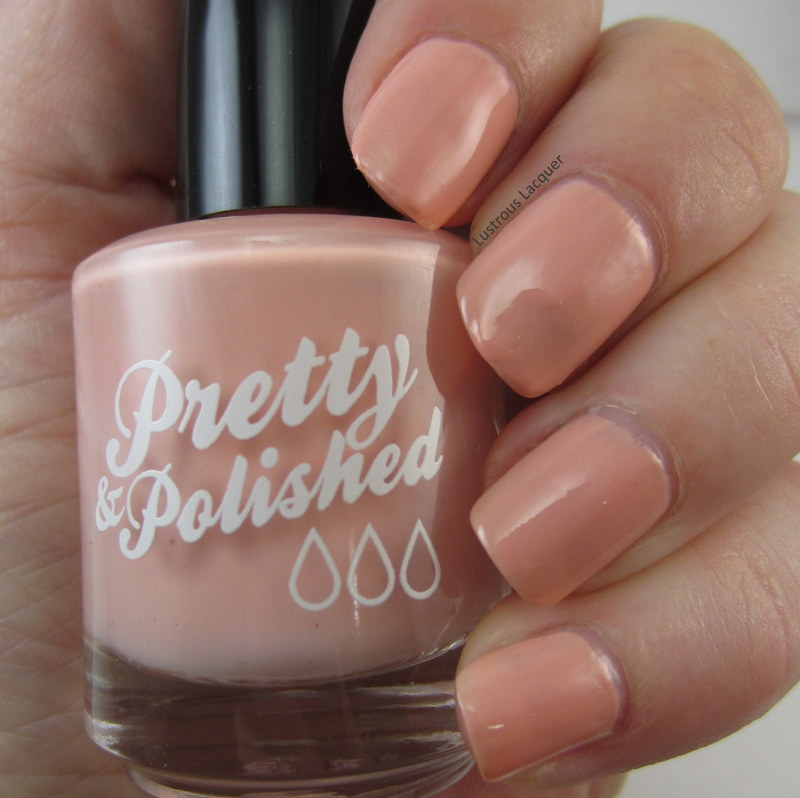 Peach creme finish nail polish