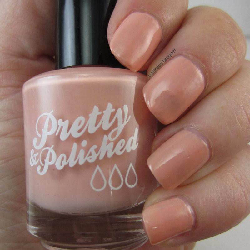 Peach creme finish nail polish