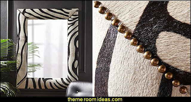 Zebra Leather Wall Mirror