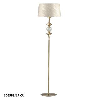 lampara de pie moderna oro