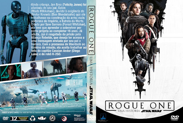 Capa DVD Rogue One Uma História Star Wars [Exclusiva]