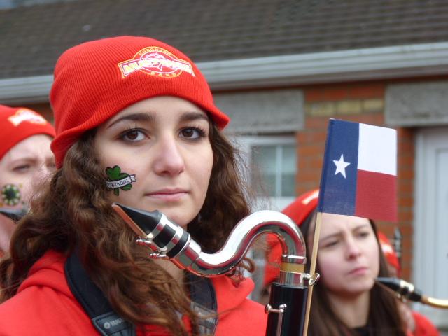 Antes del desfile de San Patricio