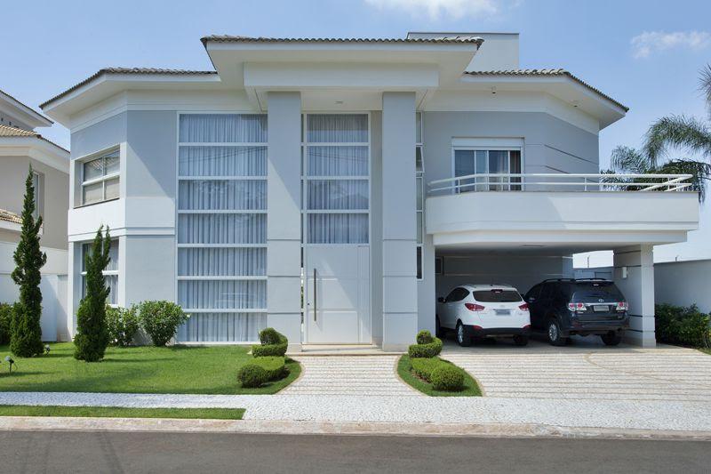 Construindo minha casa clean casa com fachada piscinas e for Fachadas de casas estilo moderno