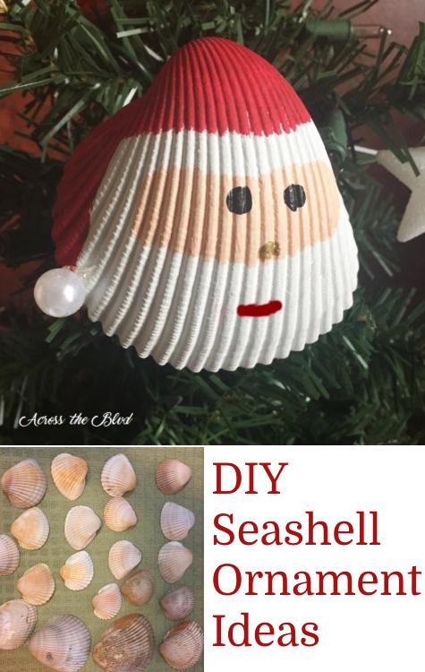 DIY Painted Santa Seashell Ornaments