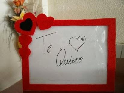 Marco Para Mensajes De Amor Hecho Con Fieltro Manualidades Faciles