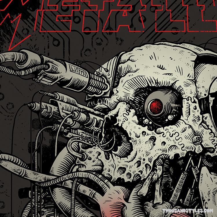 Unisex T-Shirt Metallica,spit out the bone